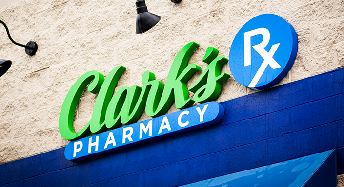 Clark's Pharmacy Sign